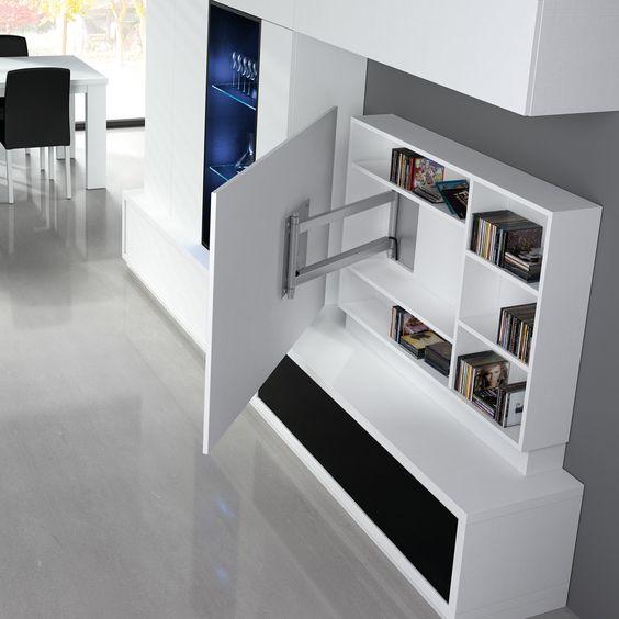 14 muebles indispensables para ordenar tu departamento y - Muebles para teles ...