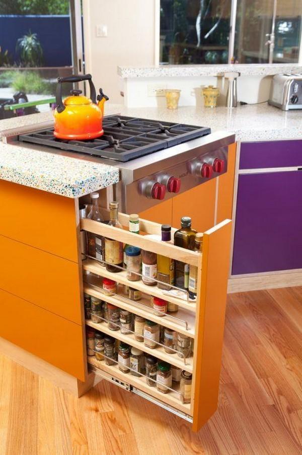 Cajón para especias y condimentos en un espacio de tu cocina que nunca  pensaste que sería útil. ea2104247b2c